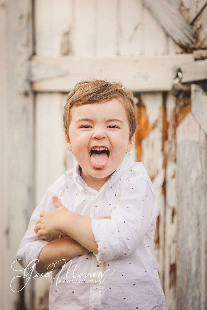 Good Morrow Photography - toddler sticking out tongue